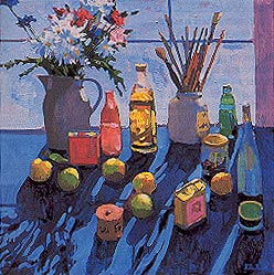 """Apples, Flowers and Bottles"""