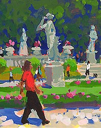 "Painting- ""Luxembourg Gardens"""