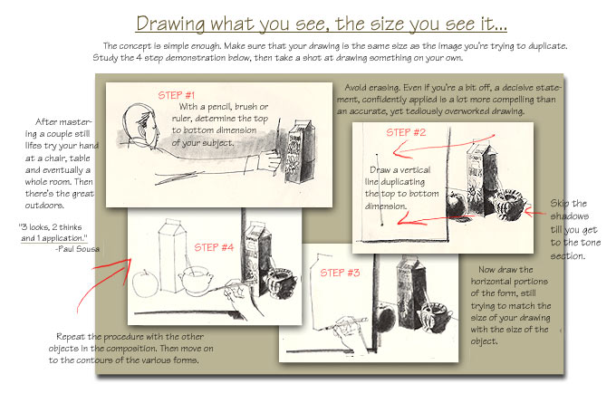 Line lesson: Sight Size Drawing