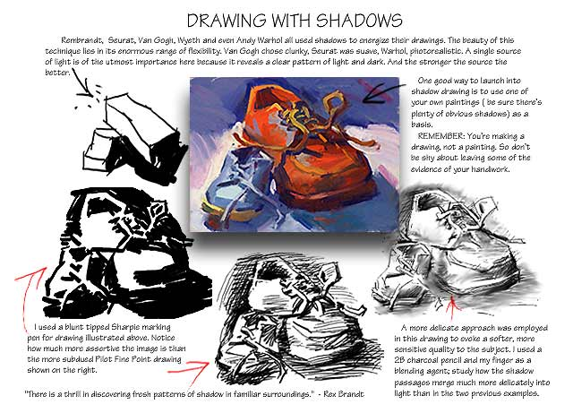 Line lesson: Drawing With Shadows