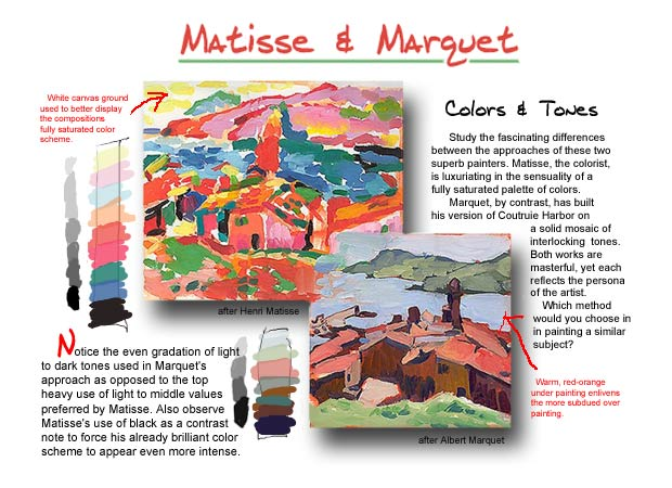 Matisse and Marquet lesson...