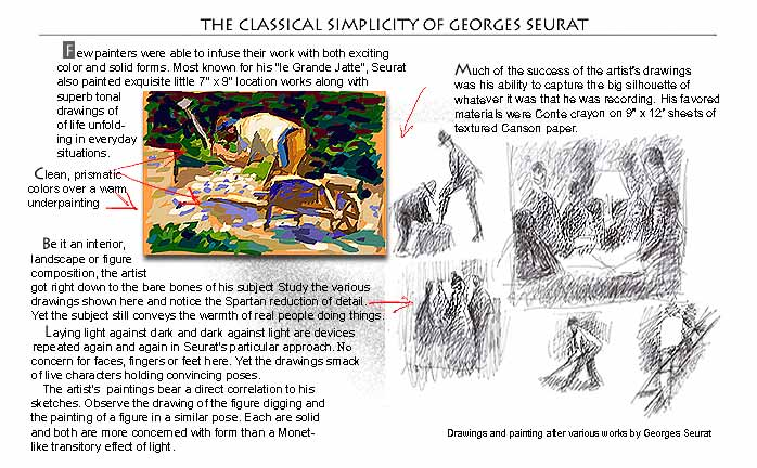 Georges Seurat lesson...