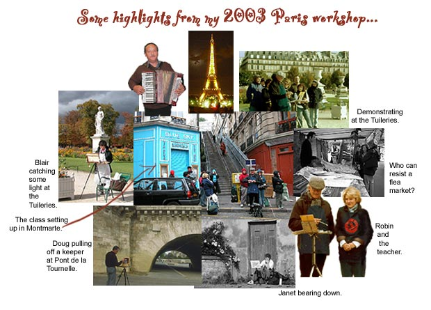 Photo collage - Images from 2003 Paris workshop